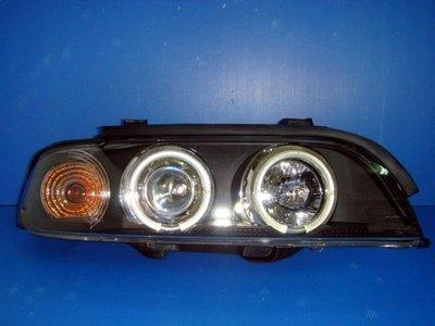 小亞車燈╠ 全新開發外銷款 BMW E39 光圈 魚眼 黑框 大燈 (含自動水平馬達) 8000