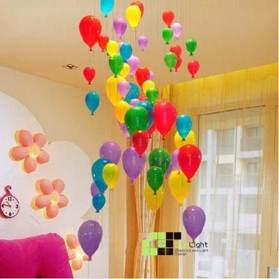 【SUN LIGHT 日光燈坊】繽紛多彩氣球大款吊燈 ,另玻璃櫥窗PH松果 Amusement 遊樂園吸頂燈