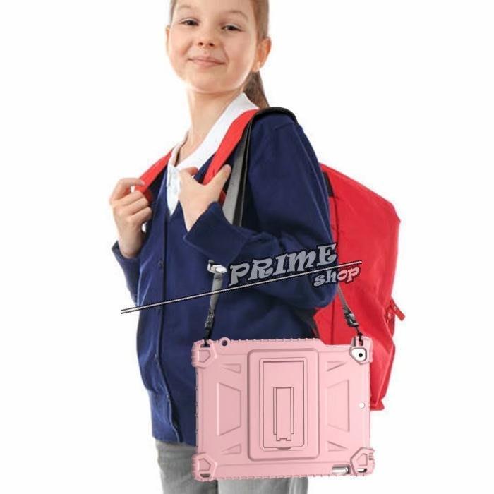 【Prime Shop】蘋果ipad7 9.7寸平板電腦保護套軟殼防摔單面雙扣挎肩膀掛繩支架  日韓裝飾配件時尚質感禮物