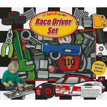 LET'S PRETEND RACE DRIVER SET/拼圖書/盒裝