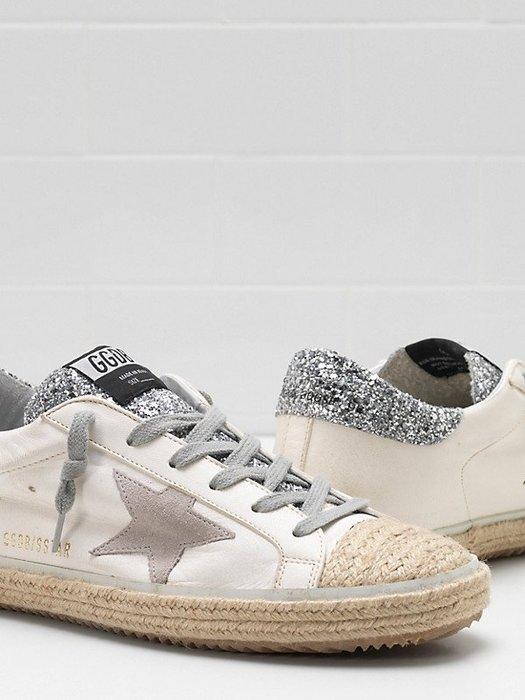 CC Collection 代購 Golden Goose GGDB 19SS 春夏限定 銀尾亞麻編織小髒鞋