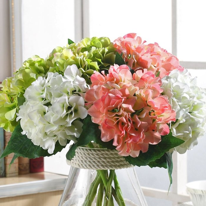 〖洋碼頭〗繡球花仿真花客廳擺設假花擺件防真花幹花花束餐桌裝飾小清新絹花 wsj122