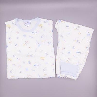 GIFT41 4165本通 長安店 新幹線 白色印花-藍色 套裝 80cm~90cm SLB401B