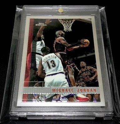 1997 Topps Chrome Michael Jordan (沒褪色~漲漲漲📈~超美~值得收藏)
