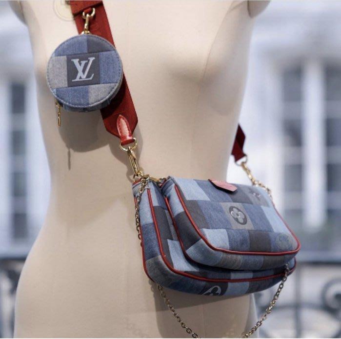 Louis Vuitton M44813 Multi Pochette Accessories 複合肩背包焦糖/駝