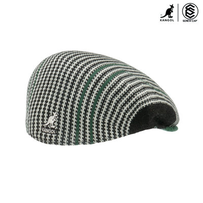 KANGOL 504 SWITCHBOAED DESCRIPTION 黑/綠 棉質報童帽  小偷帽 彈性小偷帽 正版