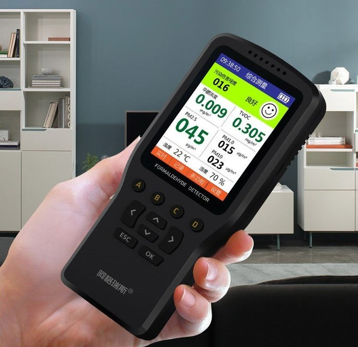 【玩具貓窩】阿格瑞斯五傳感PM2.5空氣品質監測器 室內監測 霧霾表 儀器 甲醛 TVOC PM10 PM1.0