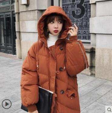 chic冬季外套羽绒棉服女中长款韩版过...