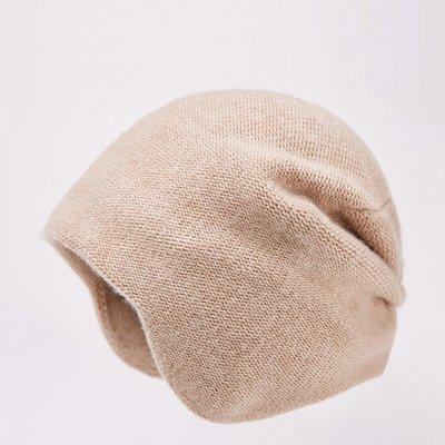 毛帽 羊毛針織帽-護耳純色包頭毛線男帽子4色73wj10[獨家進口][米蘭精品]