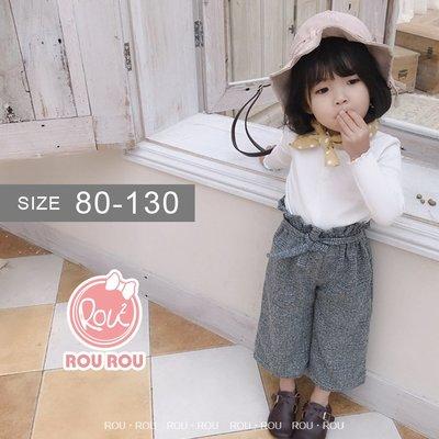 韓版女童寬褲。ROUROU童裝。春秋女...