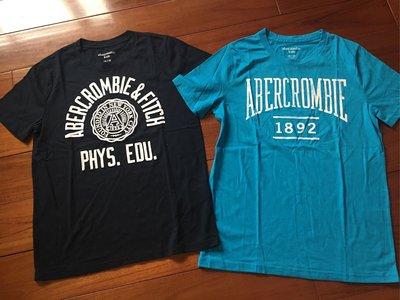 AF  Abercrombie & Fitch 男童 13-14yrs  短袖經典logo T-shirt  天空藍色 台南市