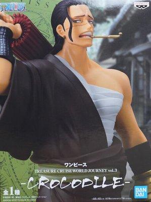 日本正版 景品 海賊王航海王 TCWJ vol.3 克洛克達爾 公仔 模型 日本代購