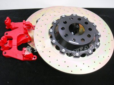 HHC BRAKES / 輕量化雙片式後加大碟組 VW SCIROCOO / NEW BEETLE(9C)  專用