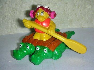 aaS1.(企業寶寶玩偶娃娃)少見1996年麥當勞發行大鳥姐姐鱷魚船公仔!!--距今已18年歷史!/6房樂箱59/-P