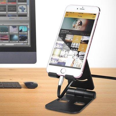 現貨 支架 iPad 平板支架 折疊 手機架 掛架 通用 桌面 懶人 追劇神器❃彩虹小舖❃【J111】雙摺疊手機支架