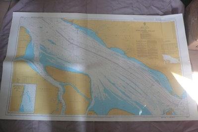 藍色小館46-1-DEPTHS IN METRES航海圖-MELAKA TO SINGAPORE STRAIT