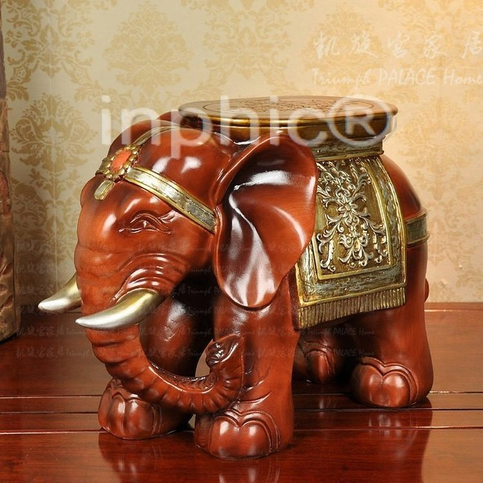 INPHIC-創意實用凳子 歐式家居大象擺飾飾品換鞋凳 精品