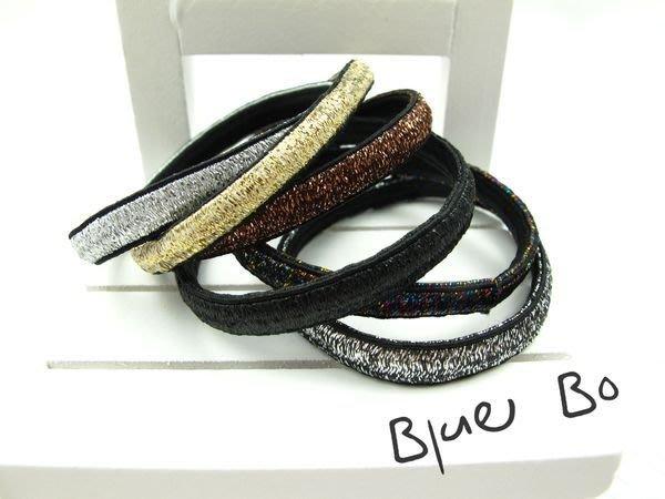 ~*BlueBo*~韓國飾品 超好用 基本款亮絲橡皮筋    髮束/橡皮繩/髮飾