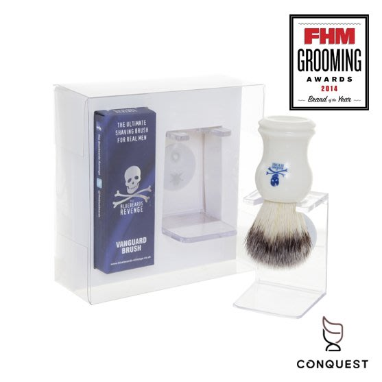 【 CONQUEST 】英國 The Bluebeards Revenge 藍鬍子 經典刮鬍刷收納組 鬍皂刷 修容鬍刷