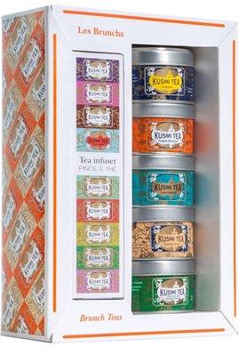 法國KUSMI TEA Brunch Teas gift set with tea infuser茶葉禮盒5x25g預購