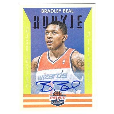 (RC) 巫師一哥 Bradley Beal 漲值保證Past & Present Rookie系列新人RC簽名卡 2012-13 Autograph
