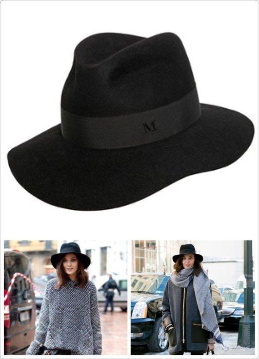 喬瑟芬【Maison Michel】清倉特價~2016春夏 Henrietta Fur-Felt Hat M  毛呢帽