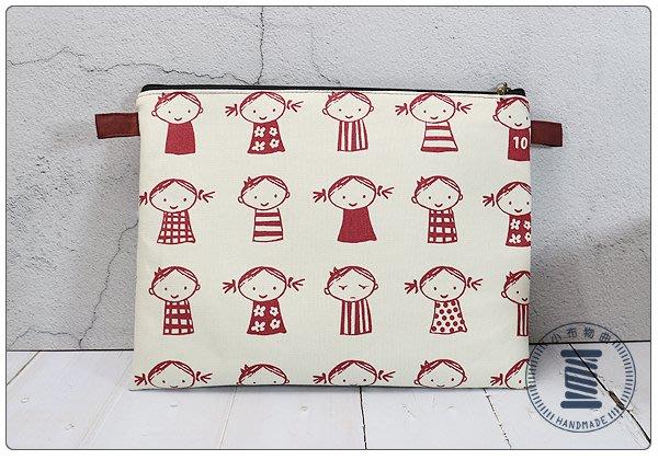 ✿小布物曲✿ 手作 童趣手拿包 化妝包 純棉印花布 日本進口布料質感優 共2色