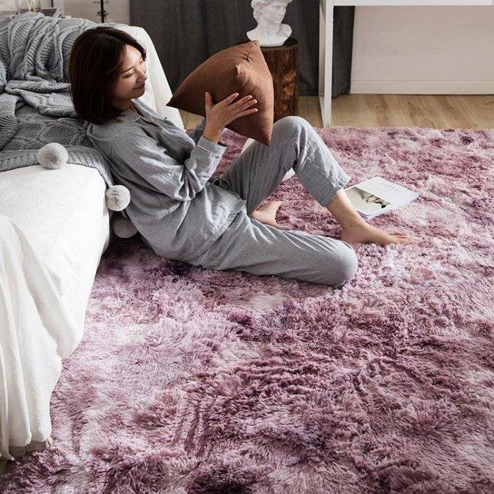 地毯臥室網紅地墊客廳滿鋪可愛北歐風格地毯長毛絨可水洗Y-優思思