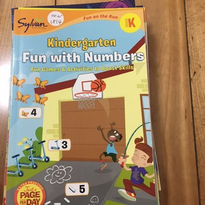 全新英文童書 sylvan fun with numbers kindergarten 幼稚園數學new1814