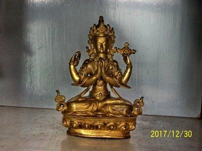 藏傳銅鎏金,銅雕,佛像
