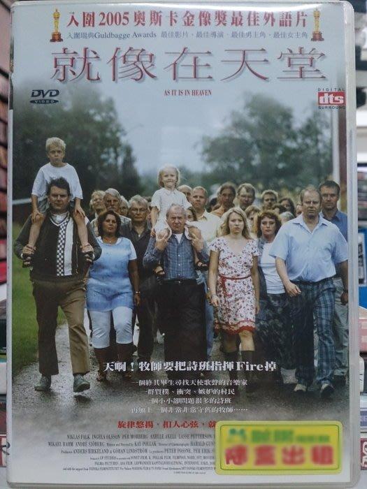 挖寶二手片-N09-010-正版DVD-電影【就像在天堂】-奧斯卡最佳外語片入圍(直購價)