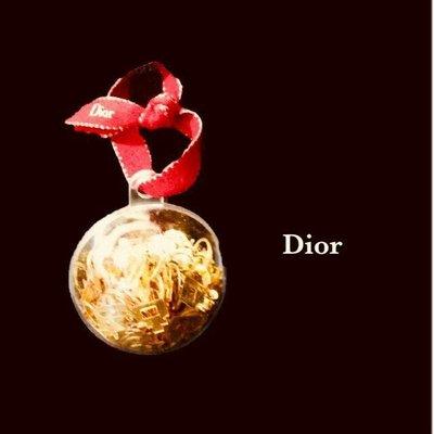 Dior 迪奧 金色亮片 雪花球