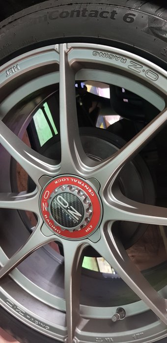 (保證正品)  17吋鍛造鋁圈  OZ 義大利原裝進口   205/45/17 德國馬牌  法國原裝進口