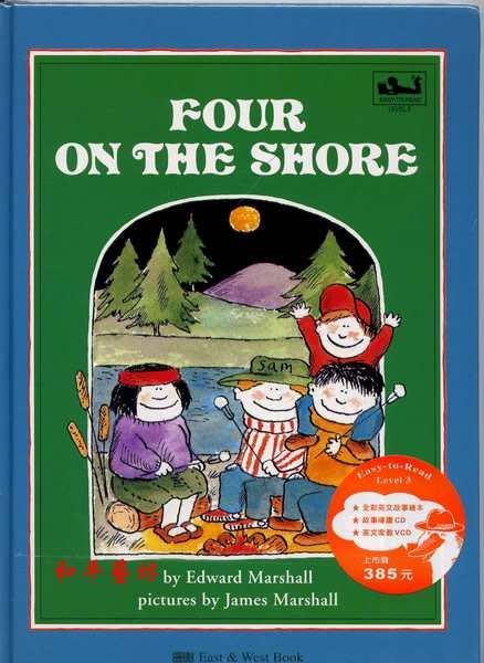 東西圖書-兒童英語故事進階5~Four on the Shore湖畔話鬼(書+CD+VCD)特賣270元