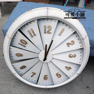 (台中 可愛小舖)簡約白色掛鐘壁鐘壁飾掛式風扇鐘數字車輪鐘餐廳咖啡廳簡約店面店家教室開電雙色配色系列鐘漸層造型鐘設計鐘