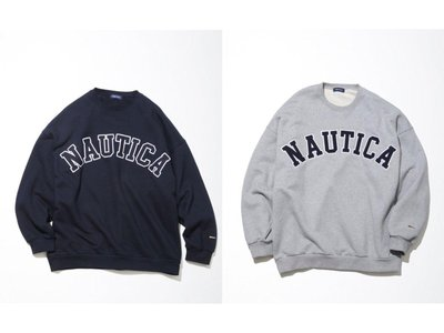 【Hills 台北實體門市】NAUTICA SWEAT LETTERED CREW (12332600110) 大學T