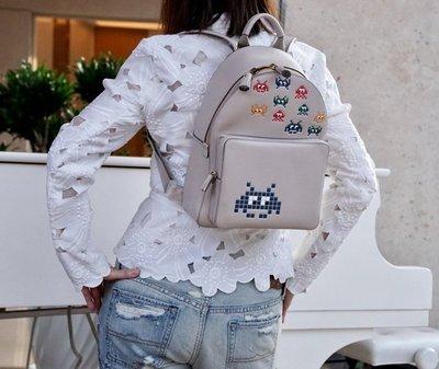 Anya Hindmarch Space Invasion mini backpack 小精靈後背包 灰白