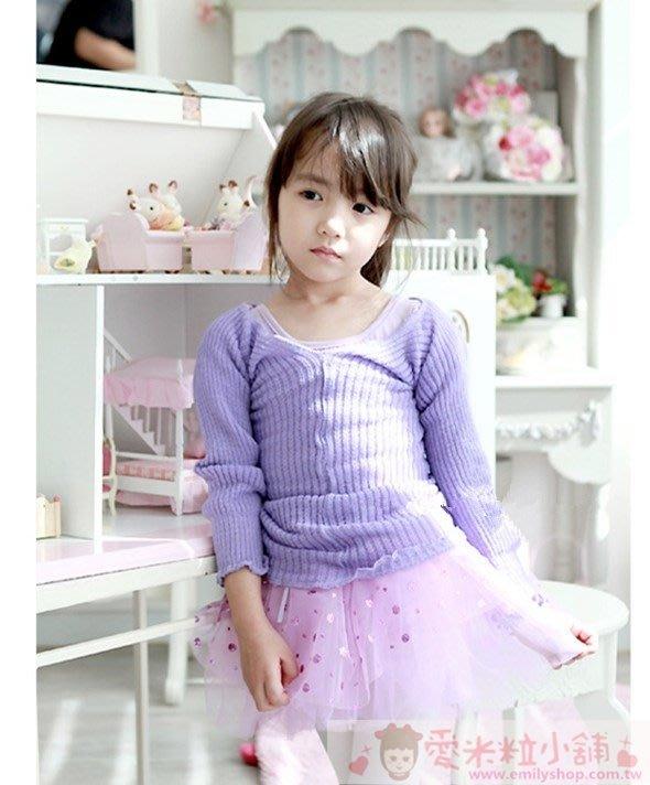 純棉針織舞蹈毛衣罩衫 ☆愛米粒☆ 1557紫色