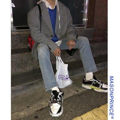 MC Lemo/20199/29 MPstudios 秋季新款韓版潮流男士格紋外套寬松青年休閑西裝