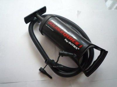 INTEX68612 手壓打氣筒 充氣床 游泳圈 充氣游泳池 充氣浮排 充氣船 都很好充 降價