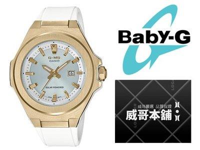 【威哥本舖】Casio原廠貨 Baby-G MSG-S500G-7A G-MS系列 白金太陽能女錶 MSG-S500G