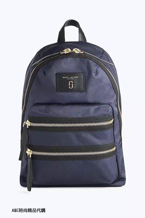 A&E精品代購MARCJACOBS  MJ 前衛時尚 經典大號藍色 尼龍後背包 美國代購