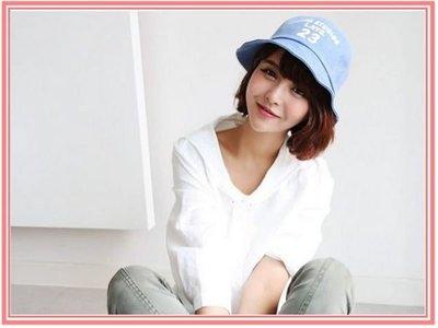 LoVuS - 韓版夏季薄款刺繡數字休閒男女通用漁夫帽(多種顏色)