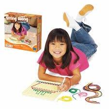 ☆天才老爸☆→【美國 Learning Resource】裁縫穿線遊戲 ←學習 資源 兒童 幼兒 教具 玩具 道具 感官