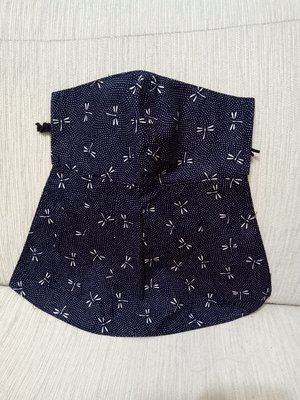 天使熊雜貨小鋪~新純手工日本布立體口罩(蜻蜓)大人加長版-單車必備~原價450
