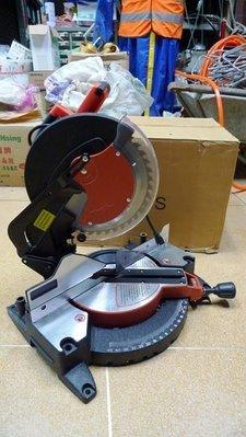 附發票*東北五金*正BOSS 12吋 多角度切斷機/鋸鋁機 可自由調整裁切角度 齒輪式設計 切割機!