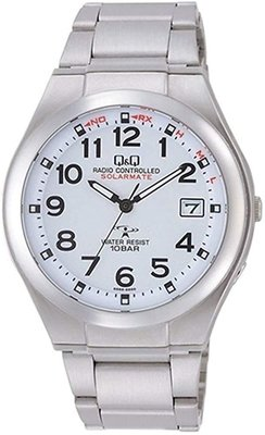 日本正版 CITIZEN 星辰 Q&Q HG12-204 手錶 男錶 電波錶 太陽能充電 日本代購