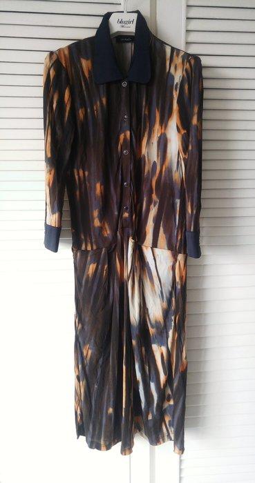 【MAX & Co】潑墨風印花長袖襯衫式洋裝