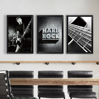 起貝金屬禮搖滾裝飾畫個性客廳沙發背景牆...
