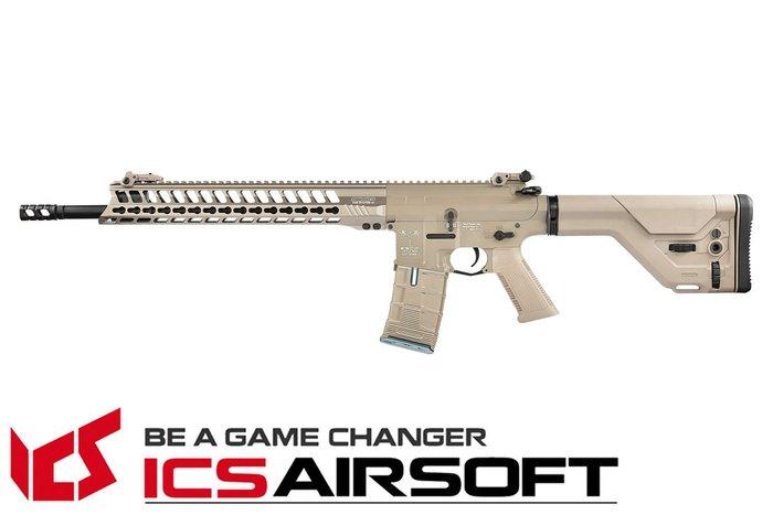 【翔準軍品AOG】ICS CXP-YAK DMR(沙) 精準射手步槍 EBB Keymod UKSR托 全金屬 電動 生